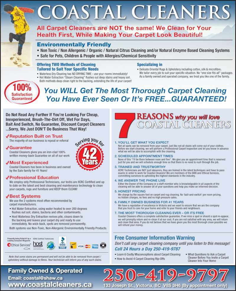 Coastal carpet upholstery cleaners opening hours 133 joseph st victoria bc - Often clean carpets keep best state ...