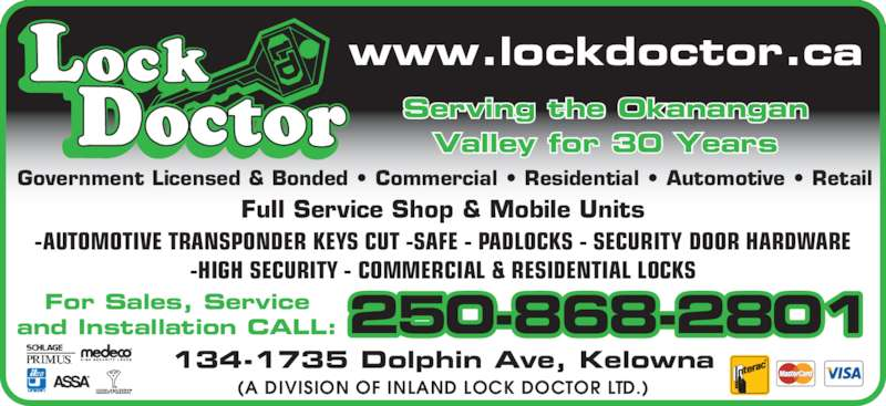 Lock Doctor Opening Hours 134 1735 Dolphin Ave