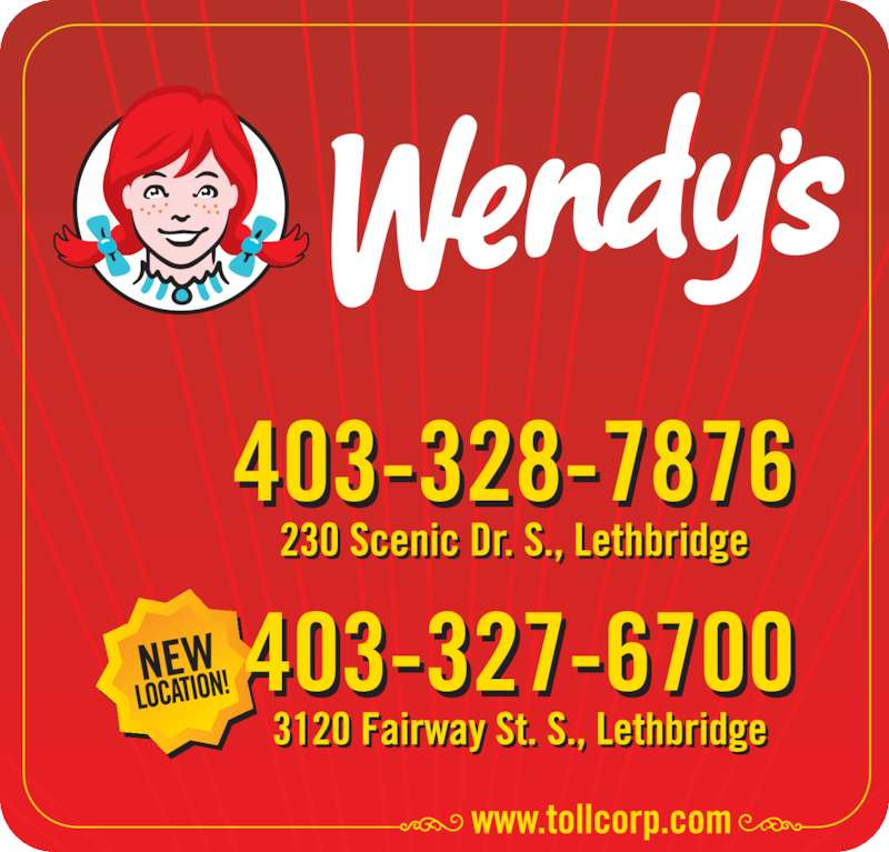 Wendy's (403-328-7876) - Display Ad -