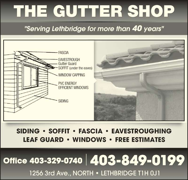 The Gutter Shop Opening Hours 1256 3 Ave N Lethbridge Ab