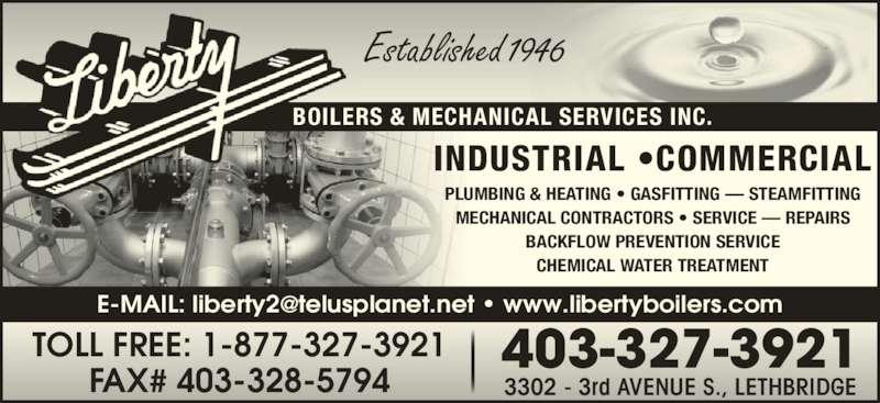 Liberty Boilers Amp Mechanical Lethbridge Ab 3302 3 Ave