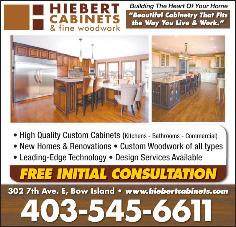 Hiebert Cabinets & Fine Woodwork - Opening Hours - 302 7 Ave E, Bow ...