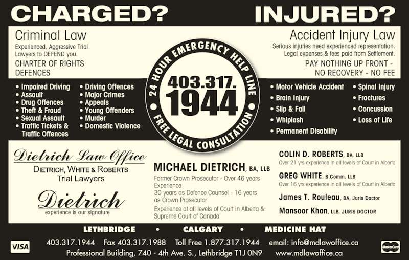 Michael dietrich 302 740 4th avenue s lethbridge ab for Motor vehicle ticket payment