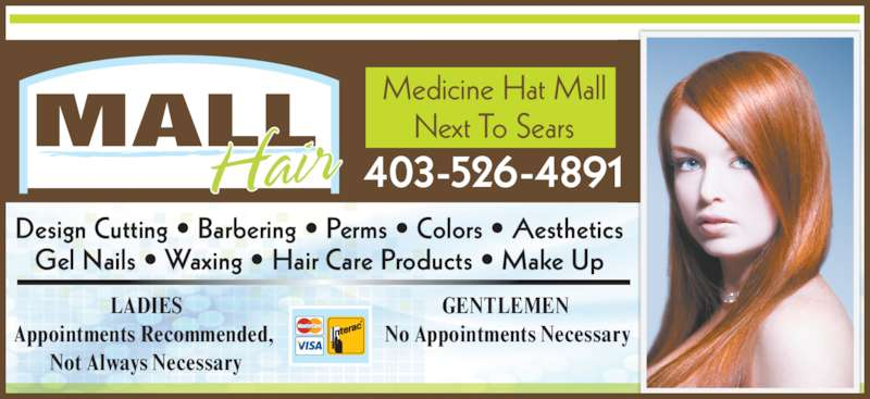 Mall Hair - Opening Hours - 103-3292 Dunmore Rd SE ...: http://www.yellowpages.ca/bus/Alberta/Medicine-Hat/Mall-Hair/4398331.html