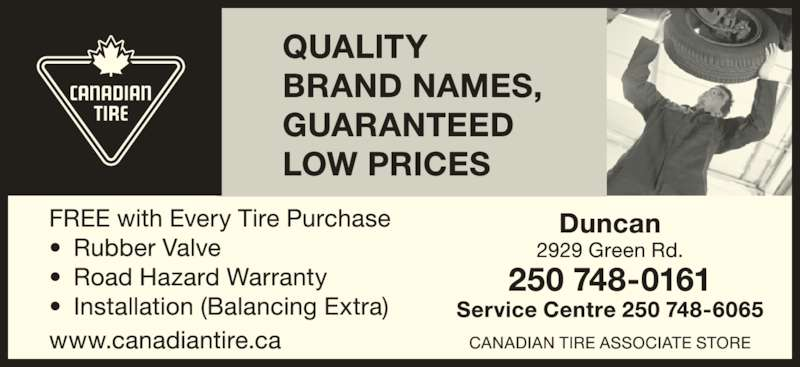 Canadian Tire (250-748-0161) - Display Ad -