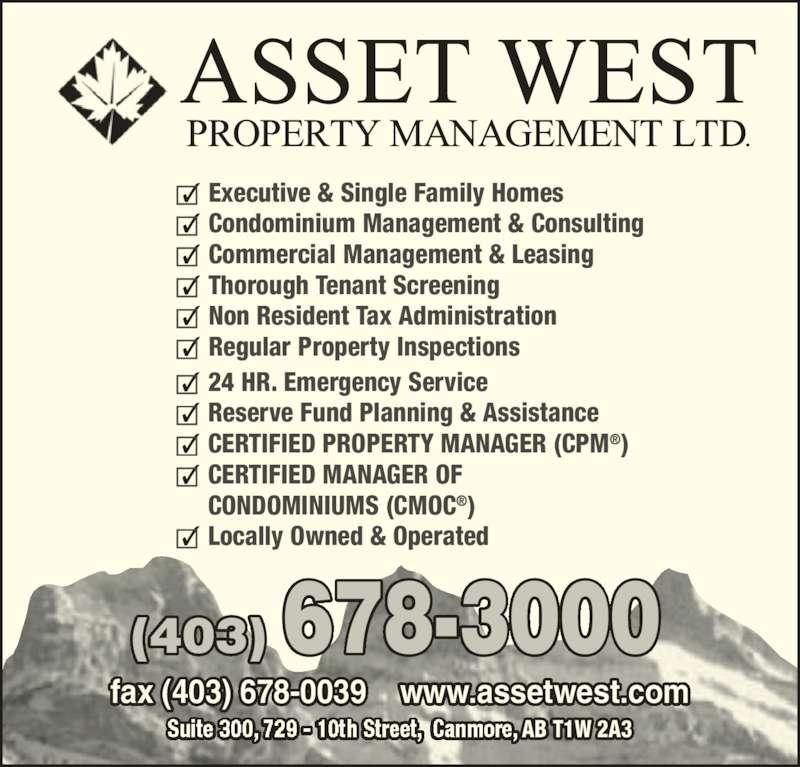 Asset West Property Management Ltd
