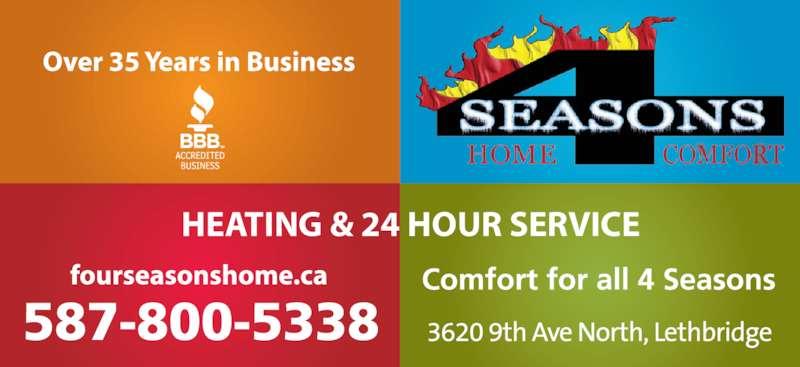Four Seasons Home Comfort Lethbridge Ab 3620 9 Ave N
