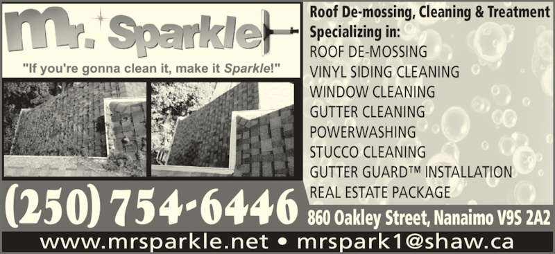 Mr Sparkle Exterior Cleaning 1631 Blackstone Pl Nanaimo Bc