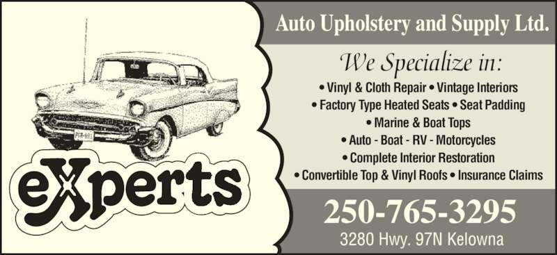 Experts Auto Upholstery Supply Ltd 3280 Highway 97 N Kelowna Bc