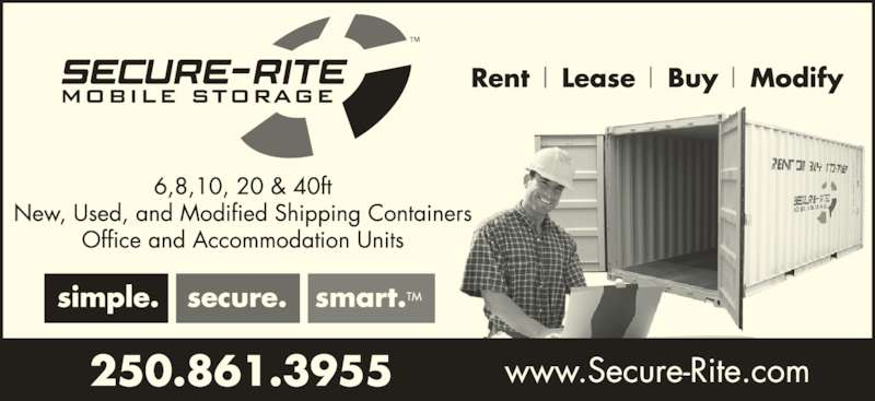 Secure-Rite Mobile Storage (250-861-3955) - Display Ad -