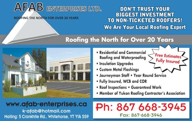 Afab Enterprises Opening Hours 5 Cronkhite Rd