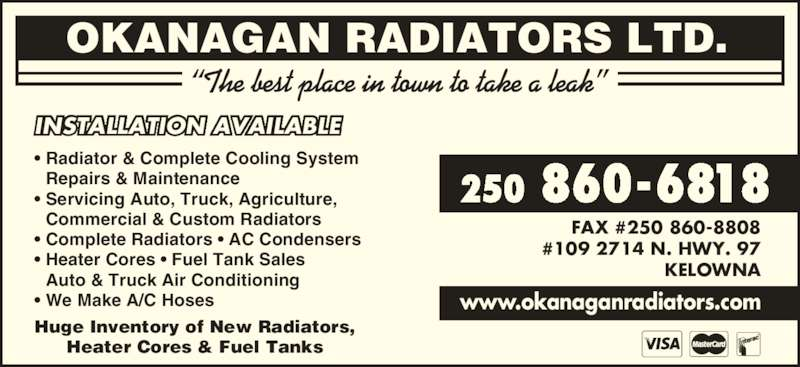 Ads Okanagan Radiators Ltd