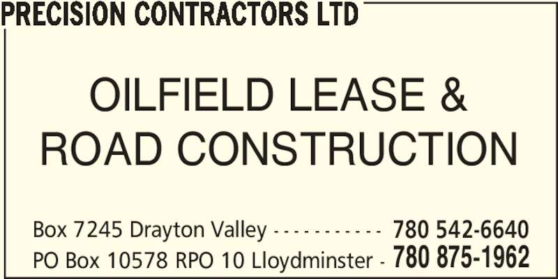 Ads Precision Contractors Ltd