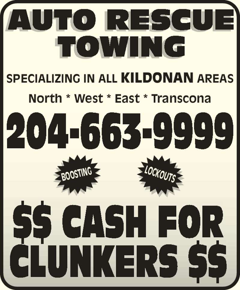 auto rescue towing 1100 talbot ave winnipeg mb. Black Bedroom Furniture Sets. Home Design Ideas