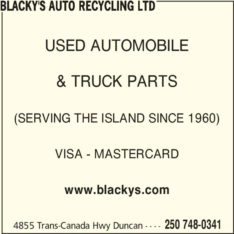 Blacky's Auto Recycling Ltd