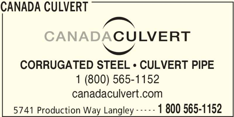 Canada Culvert Langley Ab 5741 Production Way Canpages