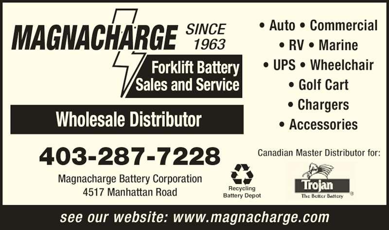 Magnacharge Battery 4517 Manhattan Rd Se Calgary Ab