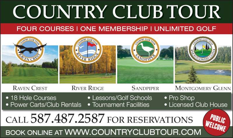 Licensed Club House COUNTRY CLUB TOUR FOUR COURSES | ONE MEMBERSHIP ...