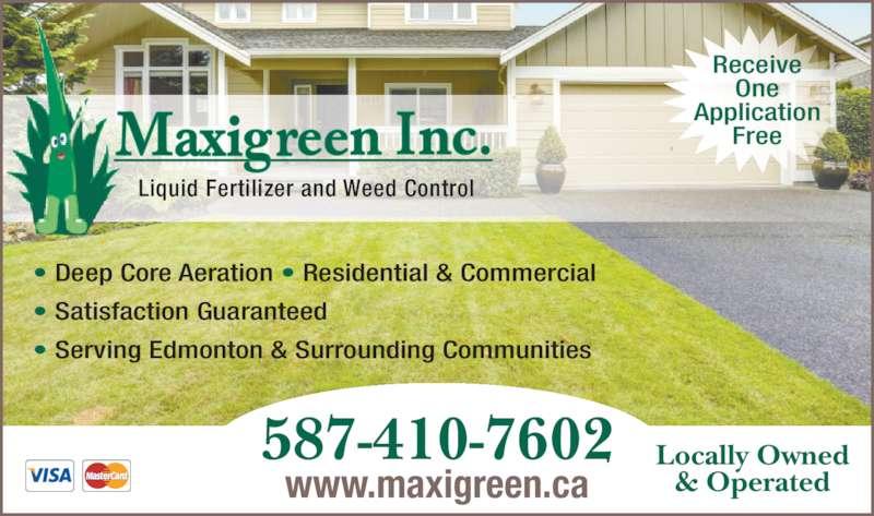 Maxigreen Fertilizing Services Inc 12813 58 St Nw