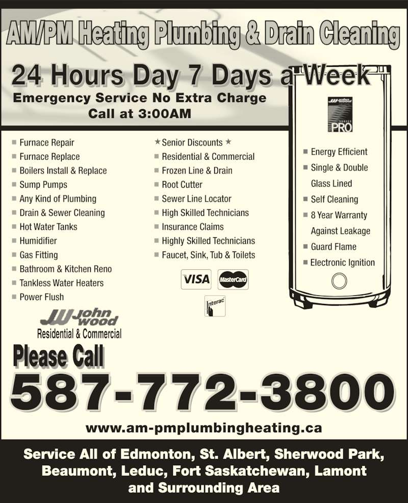 Am Pm Plumbing Heating Amp Drain Cleaning Opening Hours