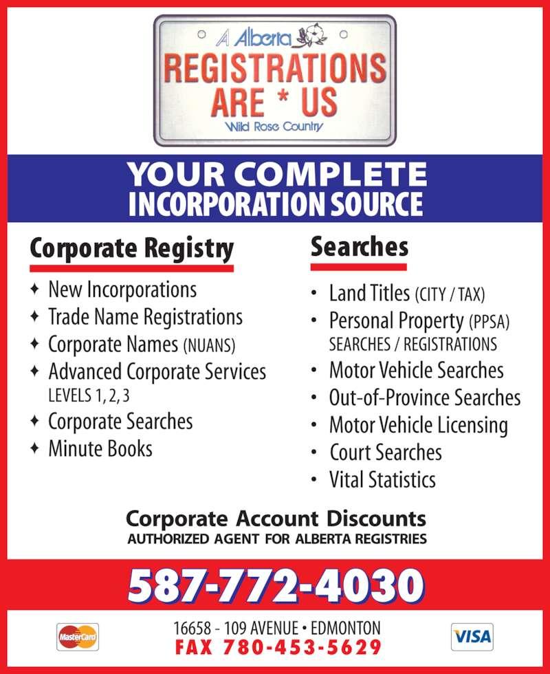 A Alberta Registrations Are Us