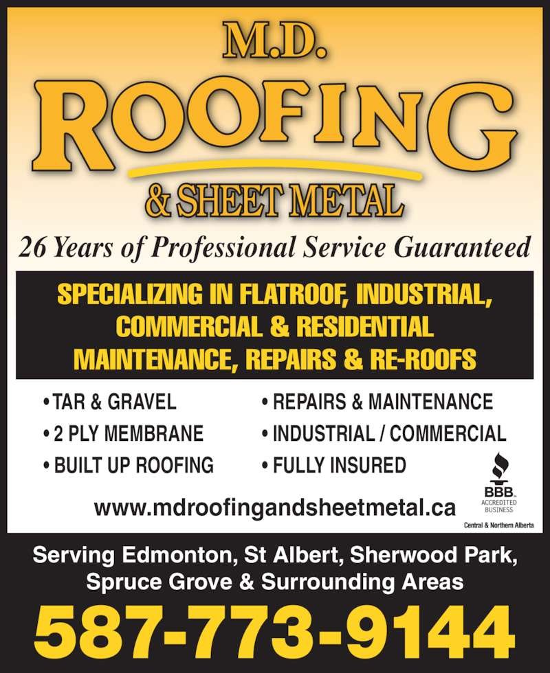 Md Roofing Amp Sheet Metal Opening Hours 2985 130 Ave