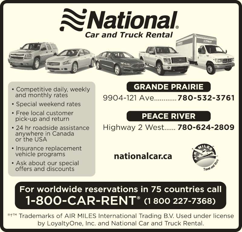 National Car Rental (780-532-3761) - Display Ad -