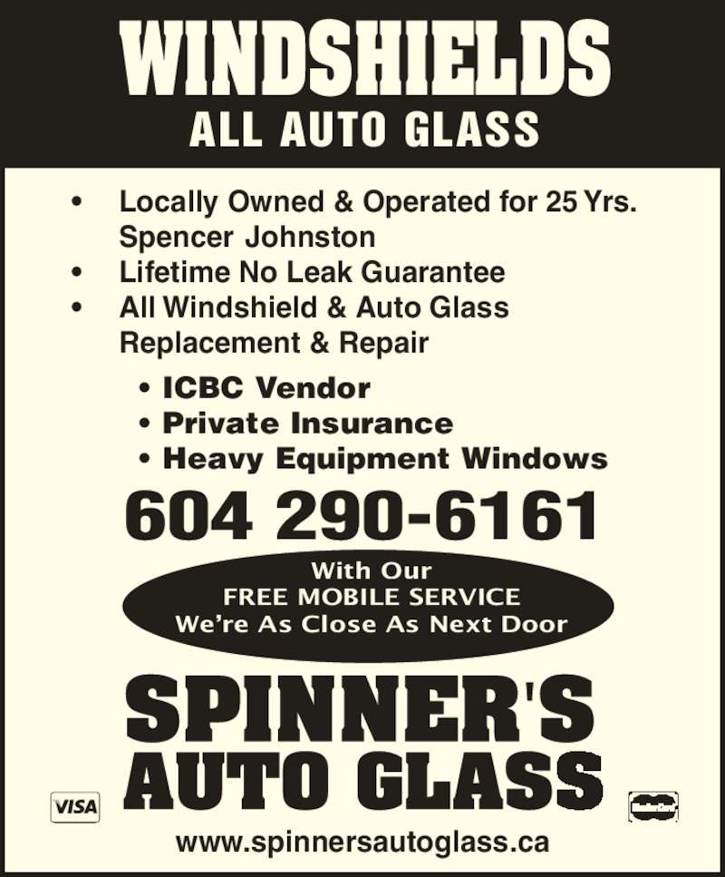 Spinner S Auto Glass Opening Hours