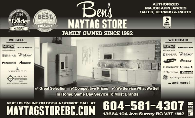 ben u0026 39 s maytag store - opening hours
