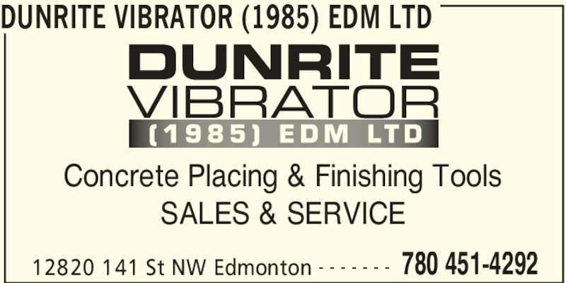 Dunrite vibrator edmonton ab 12820 141 st nw canpages for Dunrite