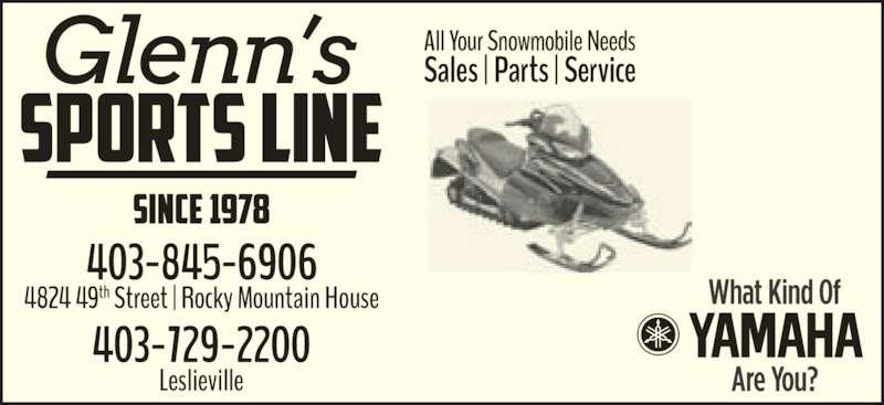 Ads Glenn's Sports Line