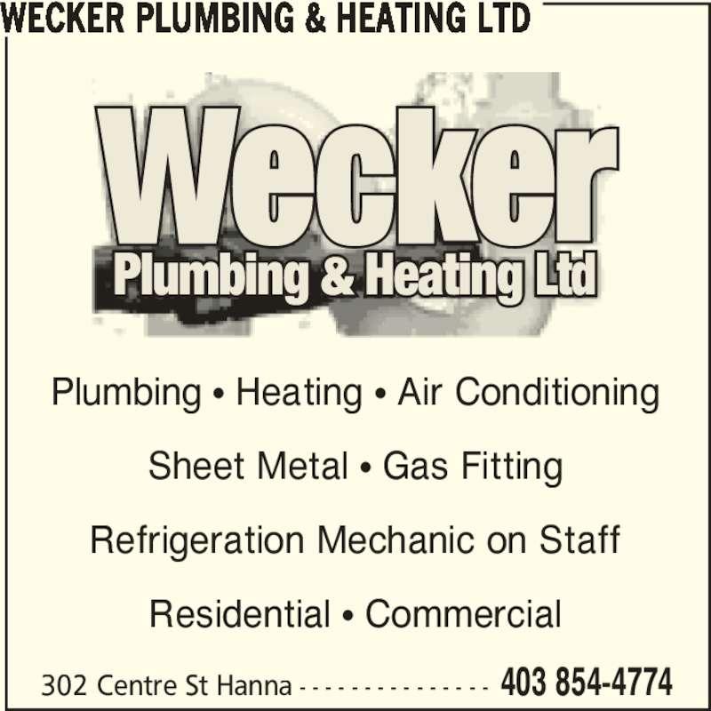Wecker Plumbing & Heating Ltd - Hanna, AB - 302 Centre St ...