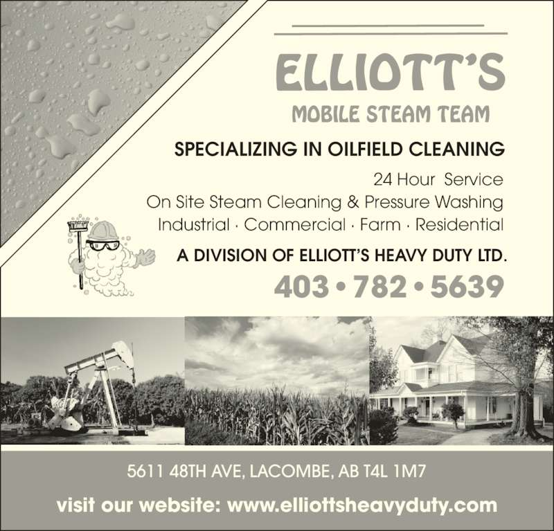 Oilfield Cleaning Services : Elliott s mobile steam team cronquist dr red deer ab