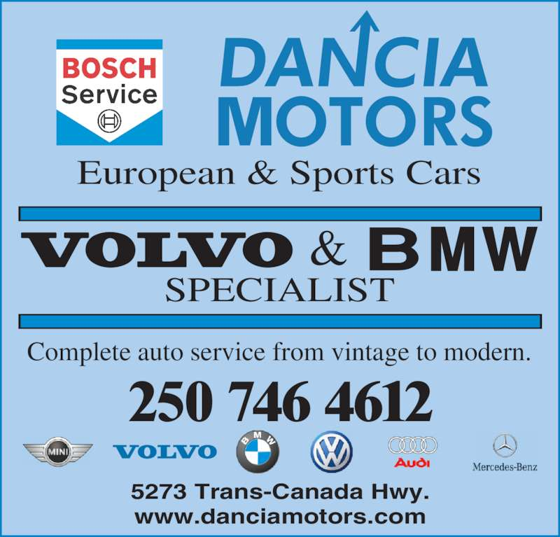 Dancia Motors European Sports Cars Ltd Duncan Bc