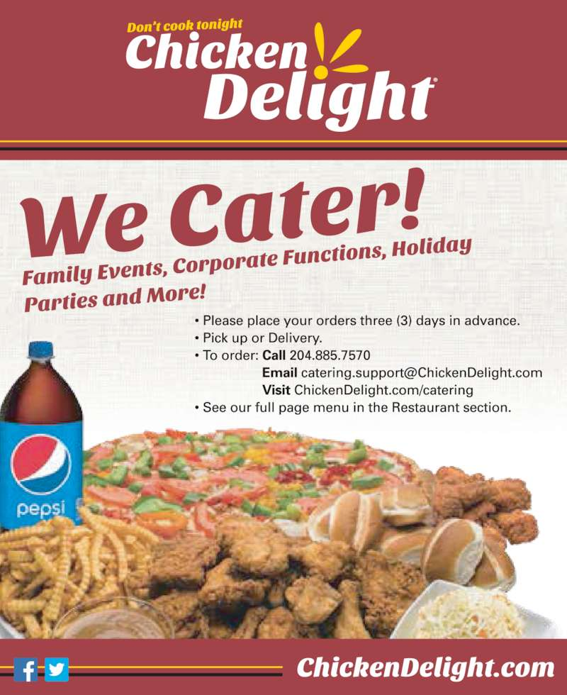 Chicken Delight (204-885-7570) - Display Ad -