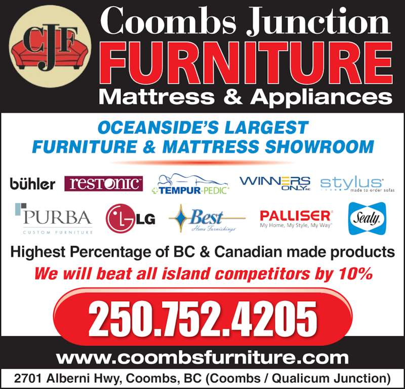 Coombs Junction Furniture Ltd - Opening Hours - 13-2701 Alberni Hwy ...