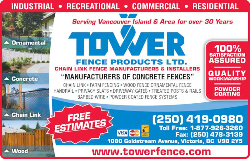 Tower Fence Products Ltd Opening Hours 1080 Goldstream