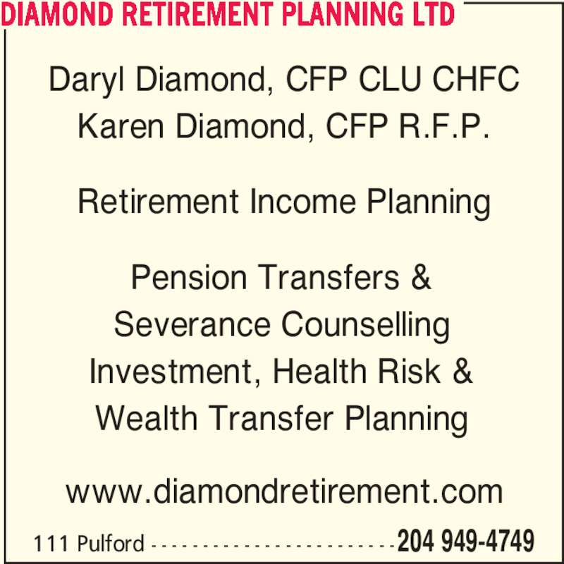 products investments retirement income pensions