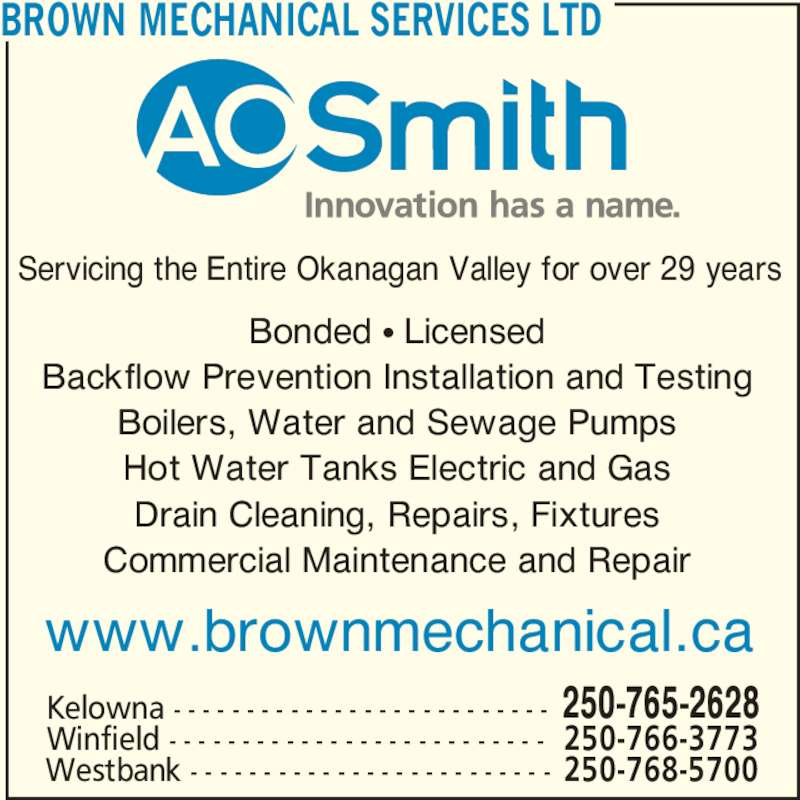 Brown Mechanical Services Ltd Canpages