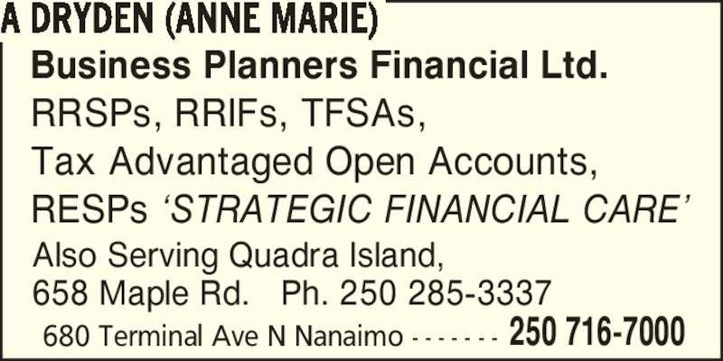 Business Planners Financial Ltd.