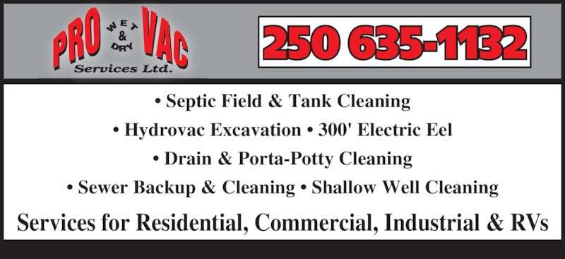 Pro Wet Amp Dry Vac Services Ltd Thornhill Bc 3514