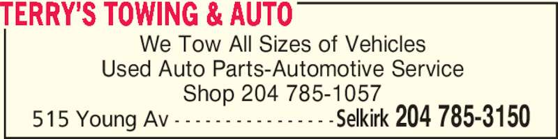 Ads Terry's Towing & Auto