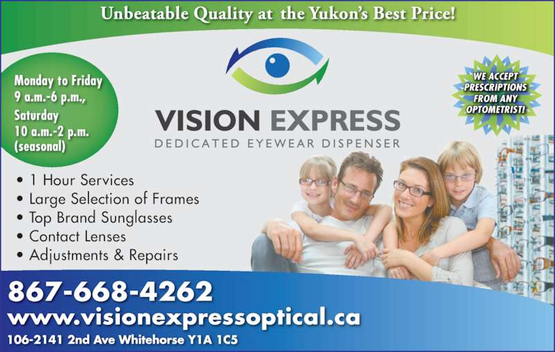 310107ffde2 Vision Express Optical - Opening Hours - 106-2141 2nd Avenue