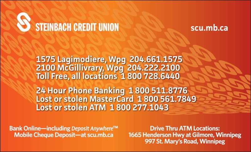 Steinbach Credit Union (204-222-2100) - Display Ad -