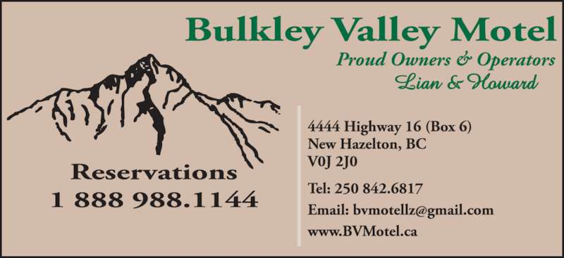 BV Motel (250-842-6817) - Display Ad -