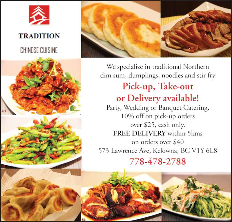 Chinese Food Delivery In Kelowna