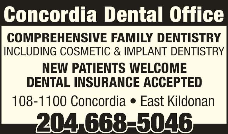 Concordia Dental Office 108 1100 Concordia Ave Winnipeg Mb