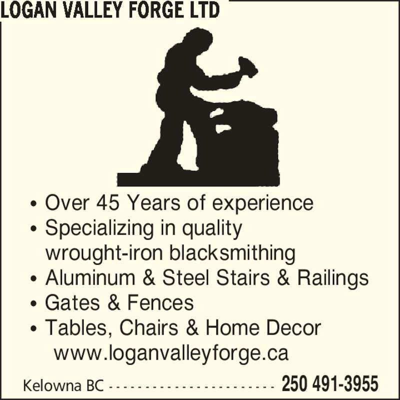 Logan Valley Forge Ltd Opening Hours Kelowna Bc