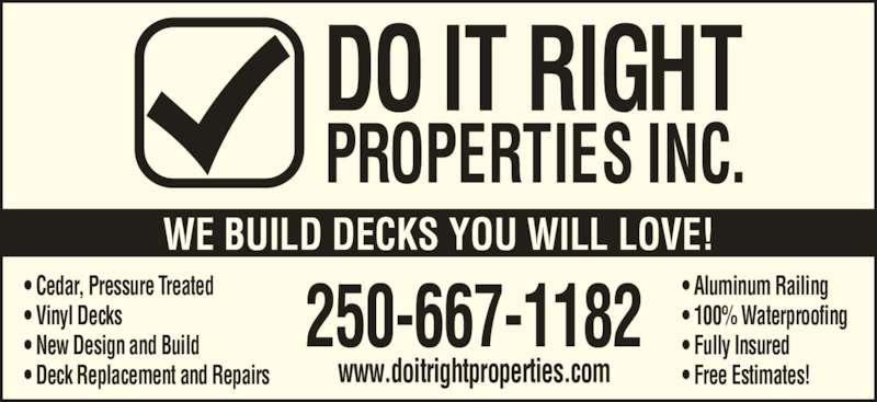 Do It Right Property Maintenance Lantzville Bc 7057