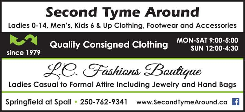 Second Tyme Around (250-762-9341) - Display Ad -